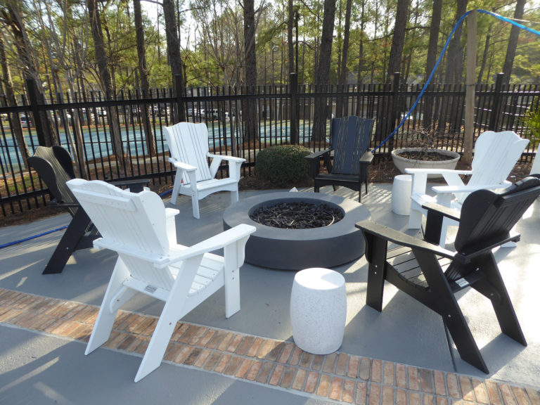 apartment amenity renovation exterior fence painting fire pit leasing office clubhouse
