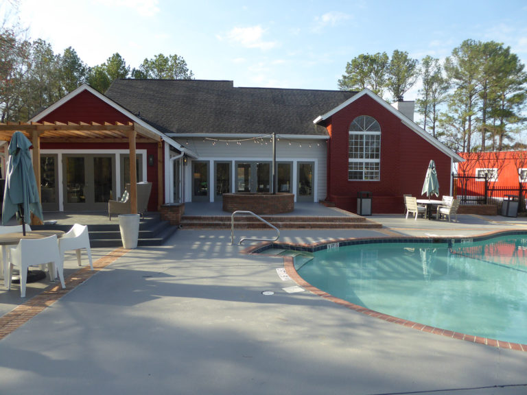 apartment amenity renovation exterior siding painting pergola deck leasing office clubhouse