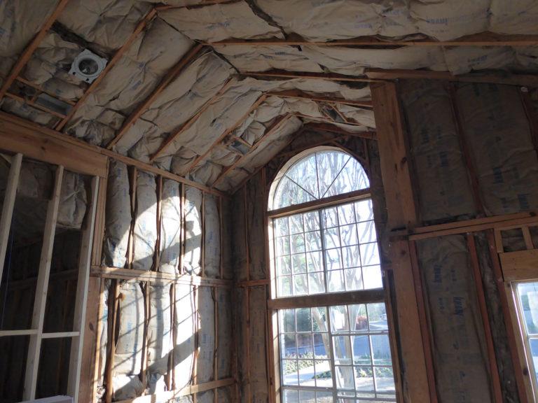 apartment amenity renovation interior framing insulation