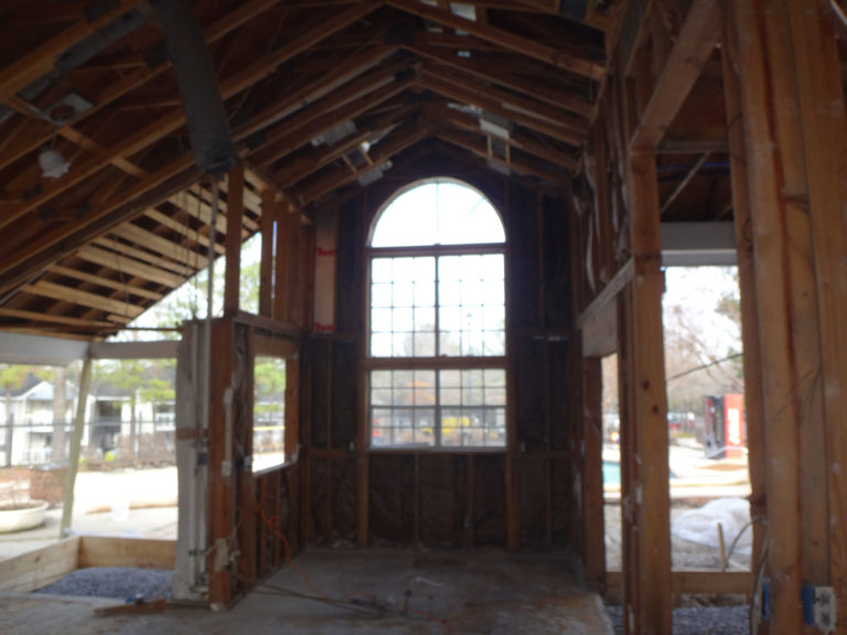 apartment amenity renovation interior framing leasing office clubhouse