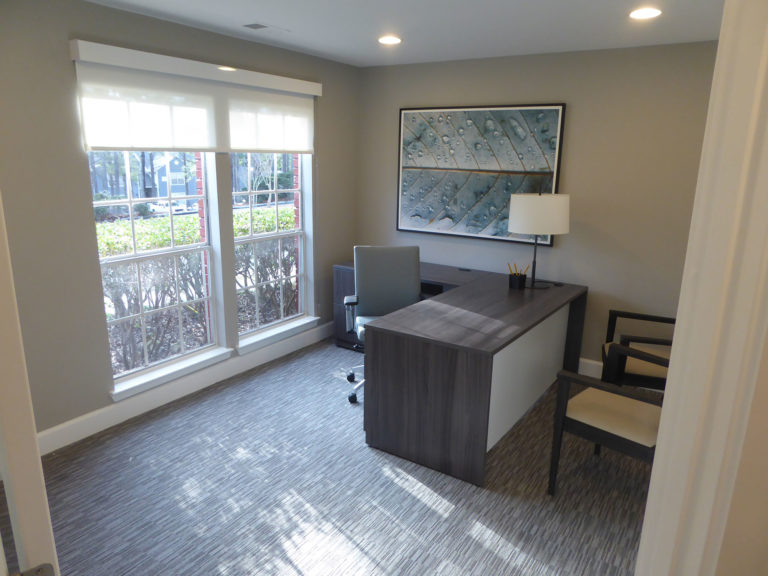 apartment amenity renovation interior office paint flooring lighting leasing office clubhouse