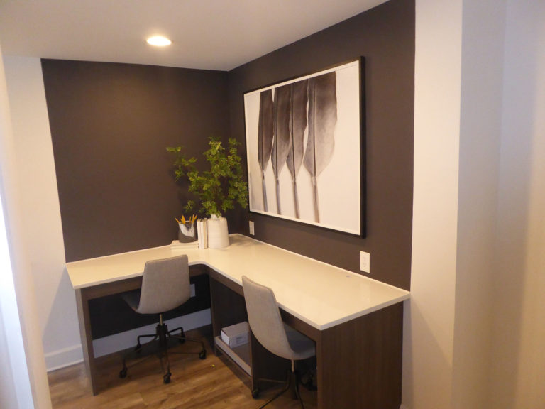 apartment amenity renovation interior painting flooring lighting countertop business center office computer room leasing office clubhouse