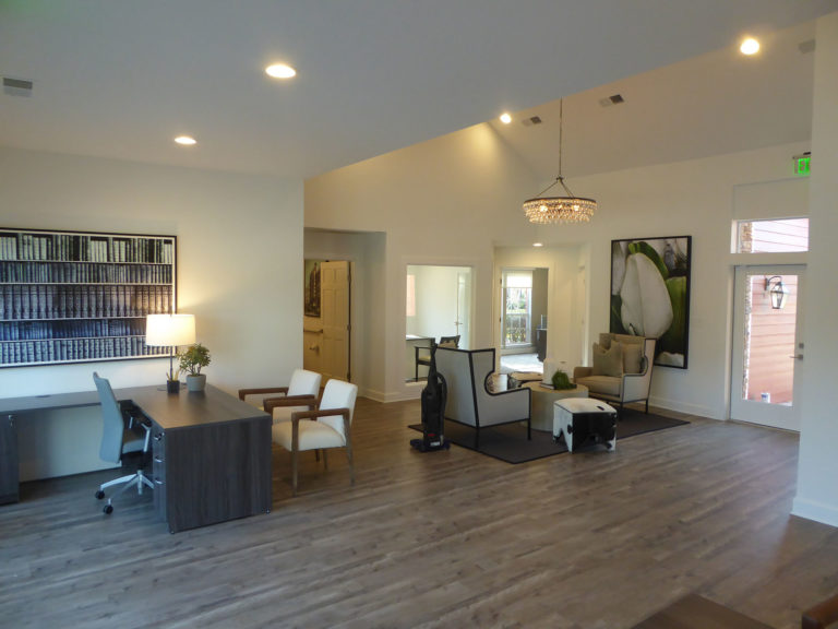 apartment amenity renovation interior painting flooring lighting lobby leasing office clubhouse