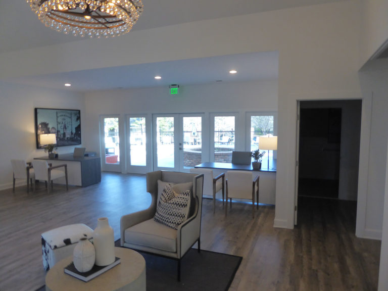 apartment amenity renovation interior painting flooring lighting windows leasing office clubhouse