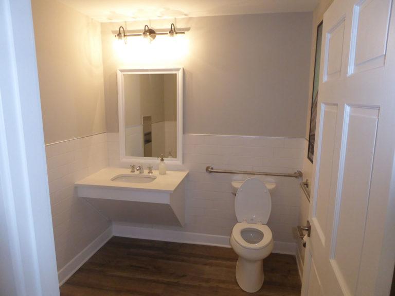 apartment amenity renovation interior restroom bathroom painting tile flooring lighting leasing office clubhouse