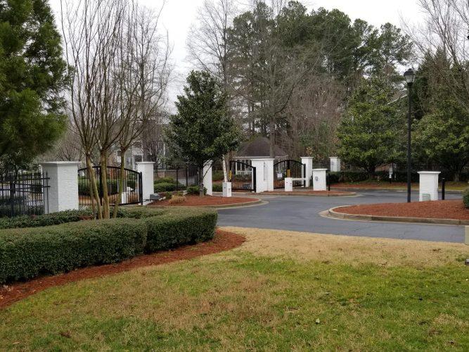 Brick Columns at Entrance Gates