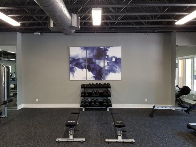 amenity renovation fitness center gym painting flooring lighting