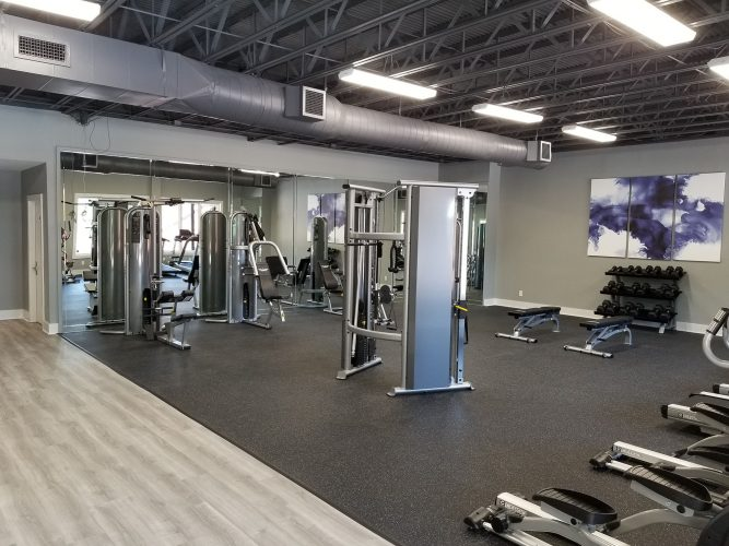amenity renovation fitness center gym painting flooring lighting (1)