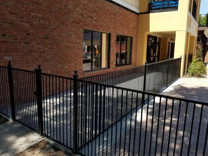 amenity renovation fitness center gym painting flooring lighting exterior fence masonry brick window