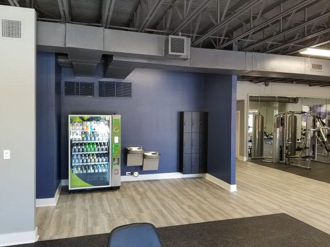 amenity renovation fitness center gym painting flooring lighting hvac water fountain