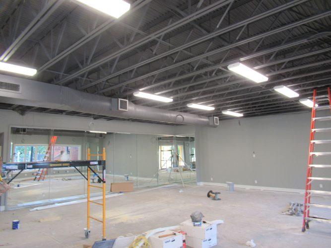 amenity renovation fitness center gym painting lighting mirrors