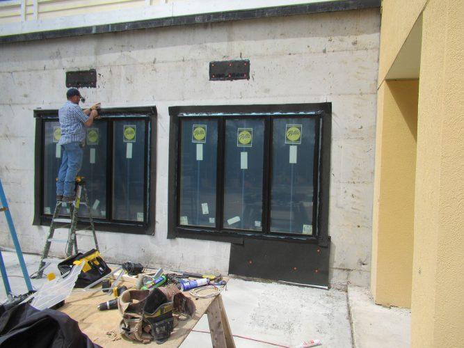 amenity renovation fitness center gym painting windows prime