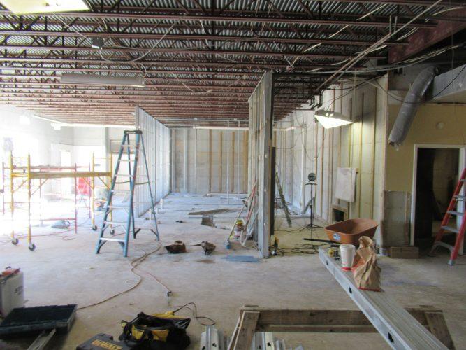 amenity renovation fitness center gym studs electrical hvac plumbing