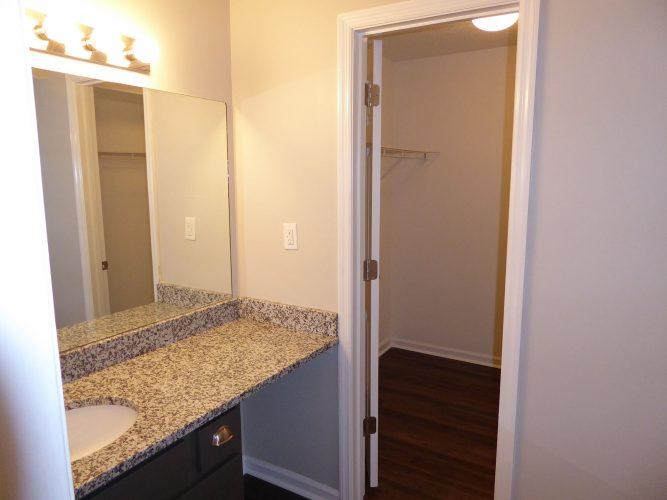 apartment bathroom countertop cabinet lighting renovation