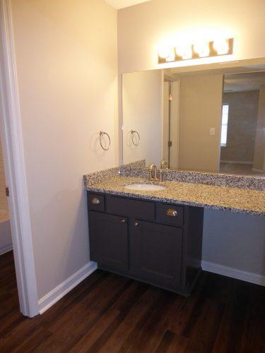apartment bathroom lighting countertop vanity bath hardware renovation