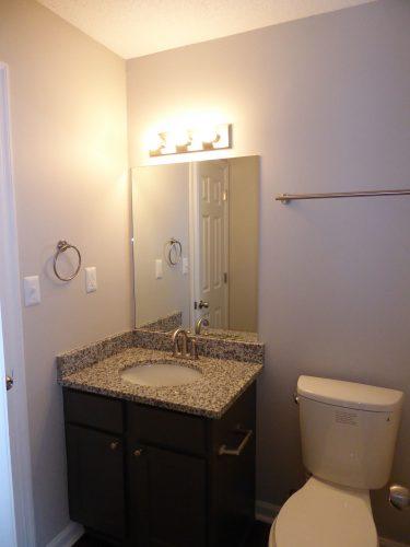 apartment bathroom lighting renovation