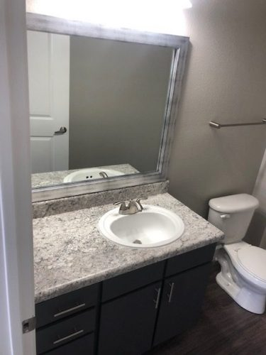 apartment bathroom mirror renovation