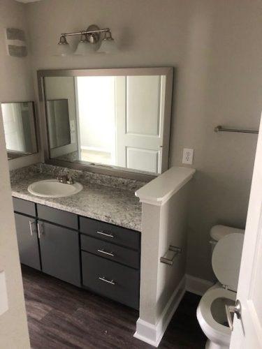 apartment bathroom vanity countertop renovation