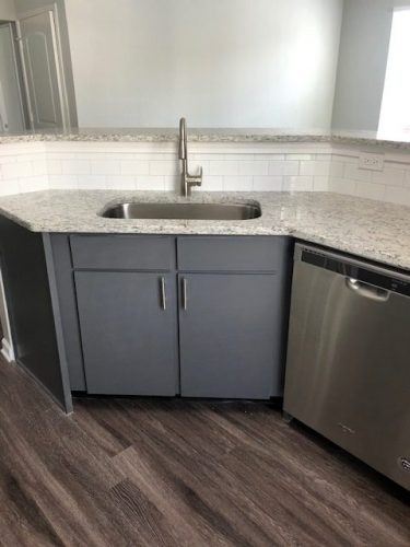 apartment countertop cabinet facuet renovation
