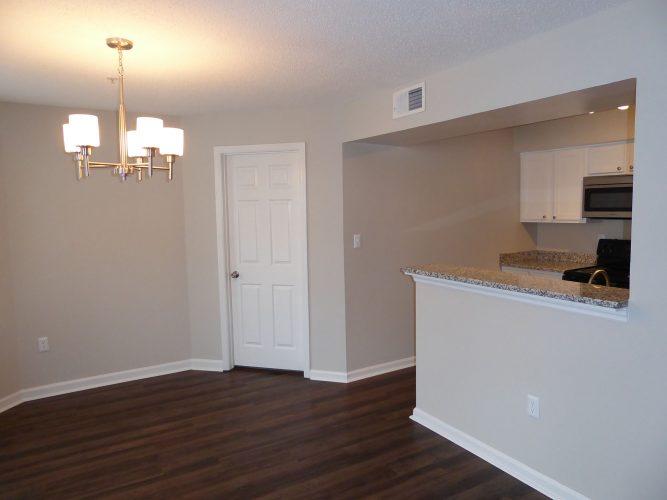 apartment dining room lighting renovation