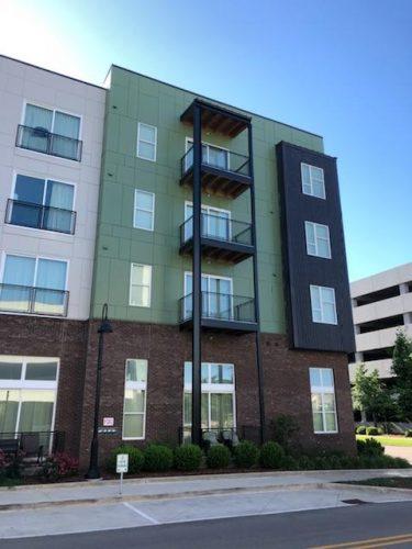 apartment exterior balcony paint renovation