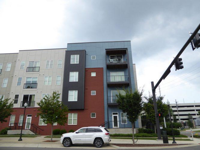 apartment exterior paint renovation corner of building
