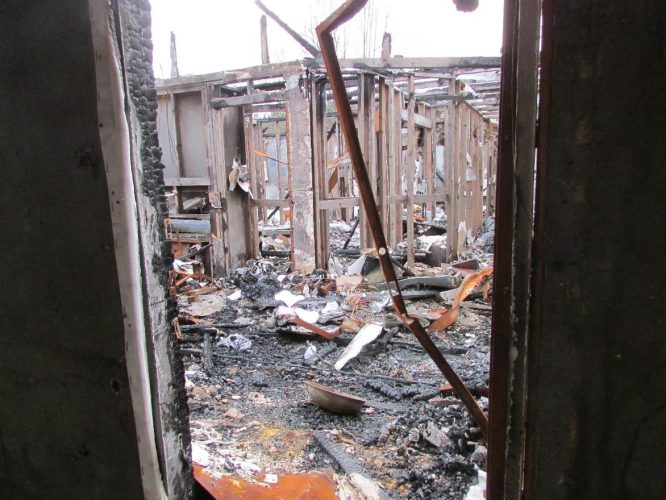 apartment fire damage burned building disaster remediation