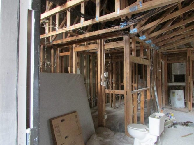 apartment fire damage interior framing compete remediation