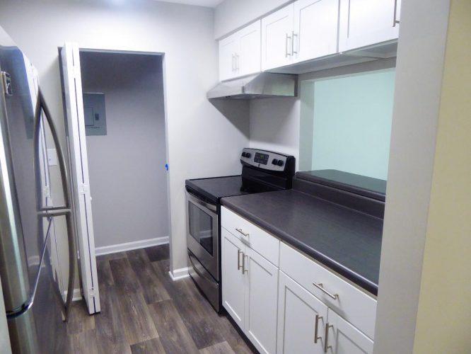 apartment fire damage interior kitchen compete remediation
