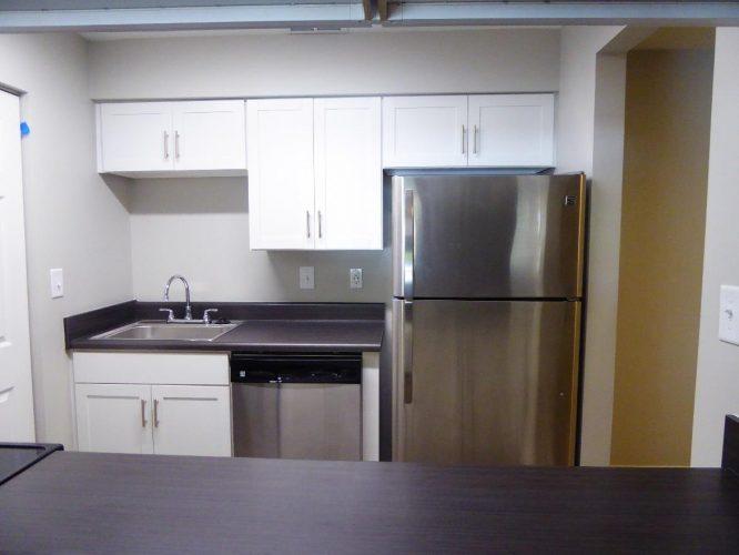 apartment fire damage interior kitchen complete remediation