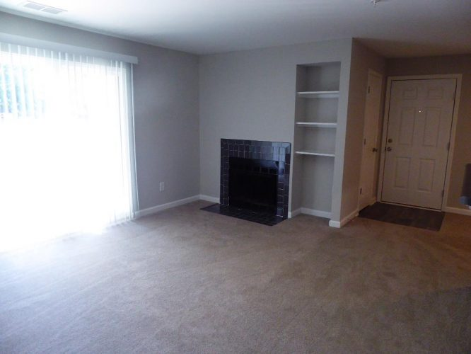 apartment fire damage interior living room complete remediation