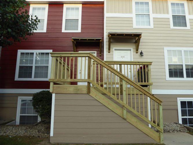 apartment hardie siding paint porch complete renovation (3)
