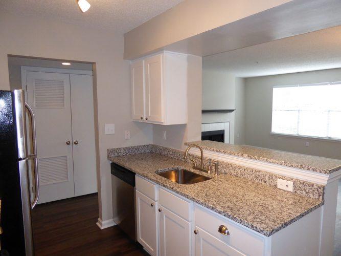 apartment kitchen cabinet countertop faucet renovation