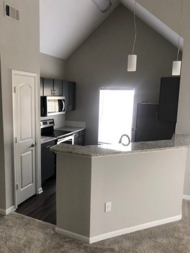 apartment kitchen renovation lighting ceiling cabinets