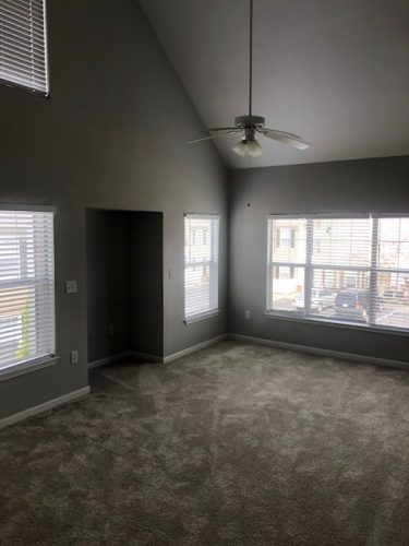 apartment living room ceiling fan renovation