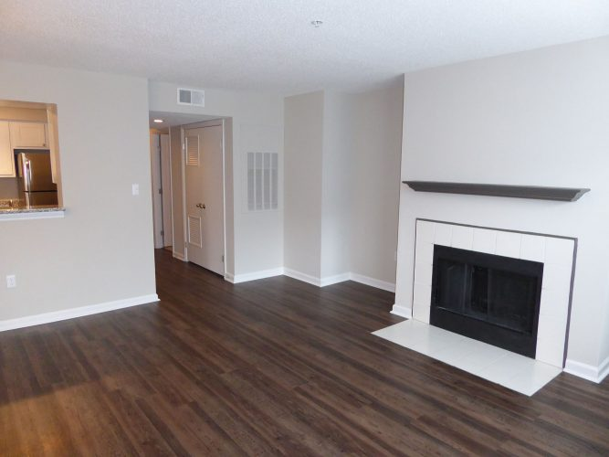apartment living room fireplace flooring paint renovation