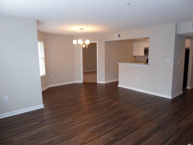apartment living room floor walls lighting renovation