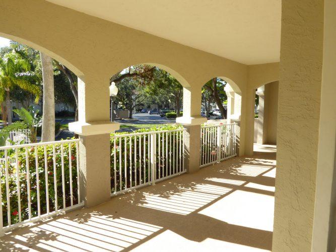 apartment stucco paint porch lenai exterior renovation